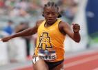 Teicami rezultāti NCAA sprinta sacensībās sievietēm