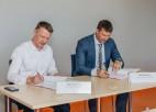 """""""Daugavas"""" stadions paraksta līgumu par sporta manēžas būvniecību par deviņiem miljoniem"""