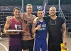 """Čempiovienība """"Saldais ēdiens"""" ar uzvaru sāk """"Ghetto Basket"""" 2021. gada sezonu"""