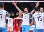 Argentīnas volejbolisti pārsteidz Franciju, neapturamā KOK grauj Brazīliju