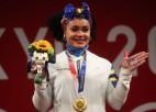 Svarcēlāja Dahomesa kļūst par pirmo Ekvadoras sievieti ar olimpisko zeltu