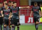 """""""Benfica"""" Maskavā sakauj """"Spartak"""", """"Legia"""" <i>izvelk</i> neizšķirtu Zagrebā"""