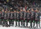 Video: Latvijas hokejisti pieveic Franciju un nopelna ceļazīmi uz Pekinas spēlēm