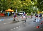 Noskaidroti valsts čempionāta medaļnieki komandu sprintā rollerslēpošanā