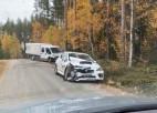 Solbergs trases pierakstīšanas laikā iekļuvis avārijā