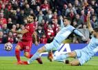 """Salāhs iesit septītajā spēlē pēc kārtas, """"Liverpool"""" un """"City"""" četru vārtu trilleris"""