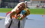 Foto: Šķēpmetēja Dadzīte ar pasaules rekordu iegūst Rio paralimpisko zeltu