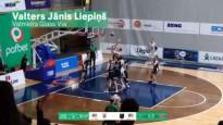 Latvijas-Igaunijas līgas labākajās epizodēs triumfē Liepiņa uzvaras metiens