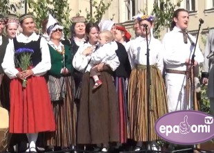 """Video: """"Skandinieki"""" ieskandina folkloras festivālu BALTICA 2015"""