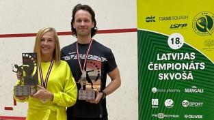 Skvošā valsts čempiones titulu aizstāv Baiba Lulle, vīriešiem pirmoreiz uzvar Kārlis Pekstiņš
