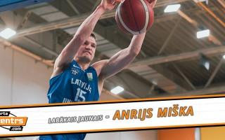 Basketbola sezonas spīdekļi: vienbalsīgi labākais jaunais - Anrijs Miška