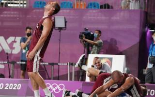 Video: Kā mazie basketbolisti līksmoja pēc 3x3 izlases zelta metiena