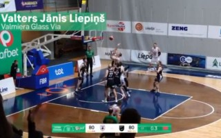 Video: Latvijas-Igaunijas līgas labākajās epizodēs triumfē Liepiņa uzvaras metiens
