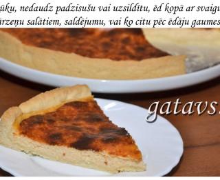 Fotorecepte: Sāļā siera kūka soli pa solim