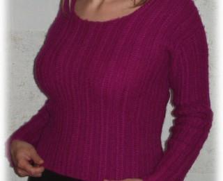 Adīts džemperis no mīkstas angoras dzijas