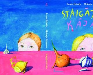 """Dzīvespriecīgi silts Leona Brieža dzejas krājums bērniem - """"Staigājošā kāja"""""""