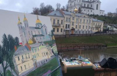 """Alekseja Naumova un Kristapa Zariņa izstāde """"Pasaules pilsētas"""" Marka Šagāla muzejā Vitebskā"""