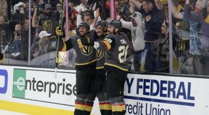 """""""Golden Knights"""" trešo reizi četru sezonu laikā iekļūst NHL pusfinālā"""