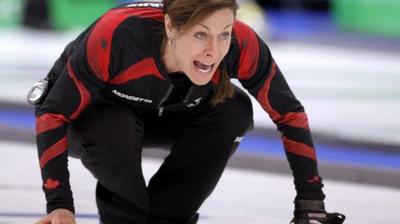 Kanādas kērlinga izlases līdere Šerila Bernāra Foto: AP/Scanpix