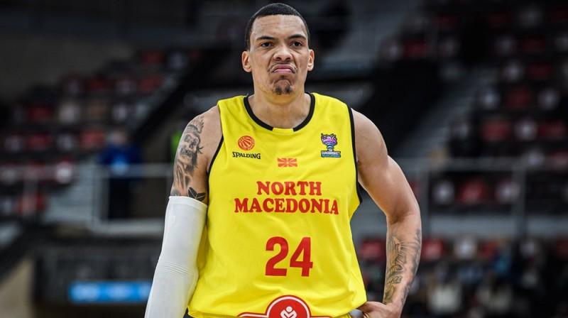 Ziemeļmaķedonijas izlases basketbolists Džeikobs Vailijs. Foto: FIBA