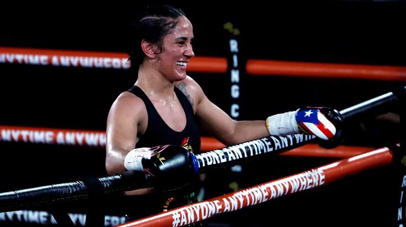 Trīs čempionjostu īpašniece Amanda Serrano. Foto: EPA/Scanpix