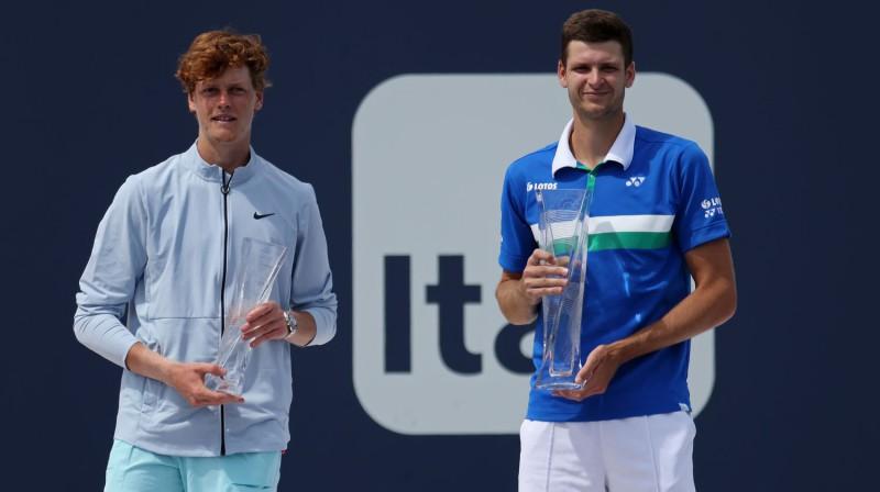 Janniks Sinners un Huberts Hurkačs. Foto: USA Today Sports/Scanpix