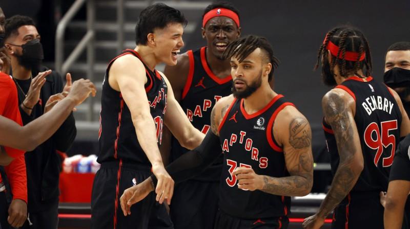 "Toronto ""Raptors"" basketbolisti. Foto: Kim Klement/USA Today Sports/Scanpix"