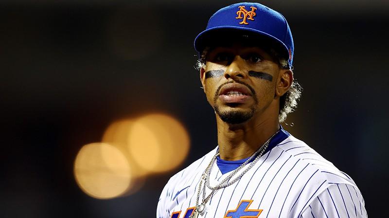 """Ņujorkas """"Mets"""" beisbolists Francisko Lindors. Foto: AFP/Scanpix"""