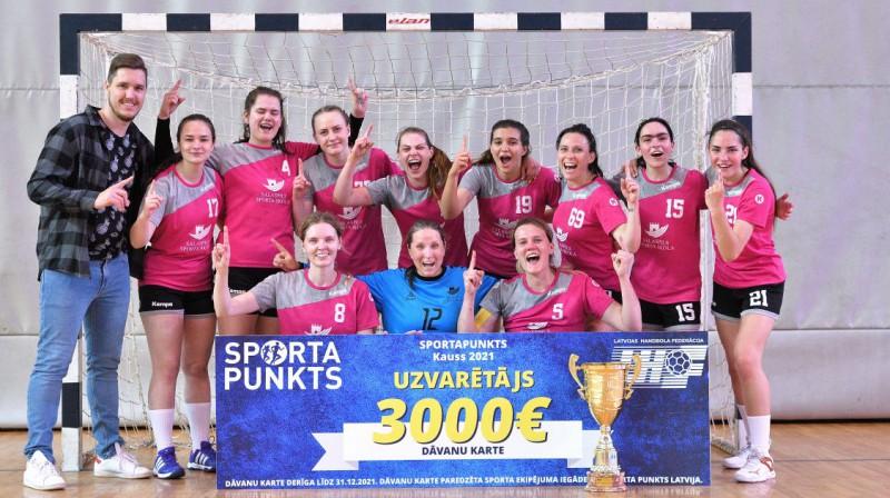 """""""Salaspils SS"""" - """"Sporta Punkts"""" Latvijas Kausa ieguvēja. Foto: handball.lv"""