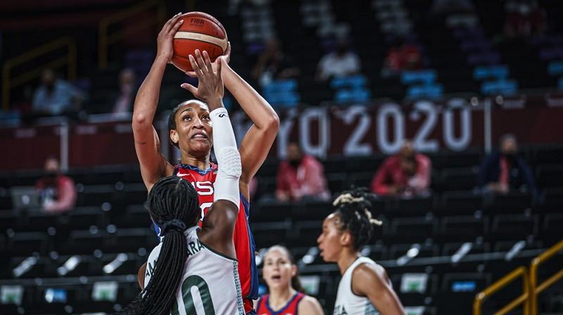 Eiža Vilsone spēlē pret Nigēriju. Foto: FIBA