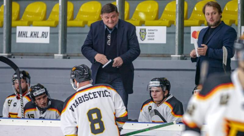 """Daugavpils """"Dinaburgas"""" līderis Vadims Vabiščevičs. Foto: Optibet Hokeja līga"""