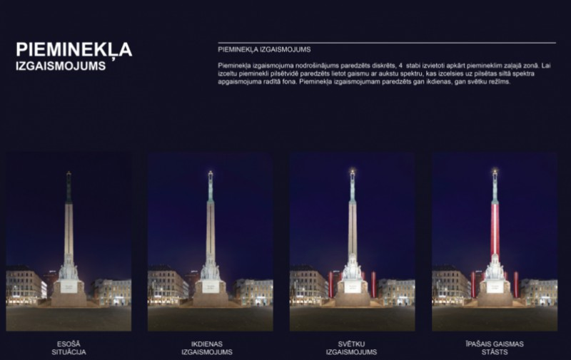 11. novembrī notiks Brīvības pieminekļa izgaismošanas mēģinājums