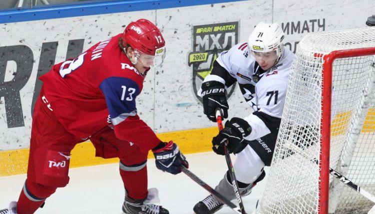 """HK """"Rīga"""" ielaiž četras ripas 207 sekundēs un ar 1:8 zaudē MHL līderim """"Loko"""""""
