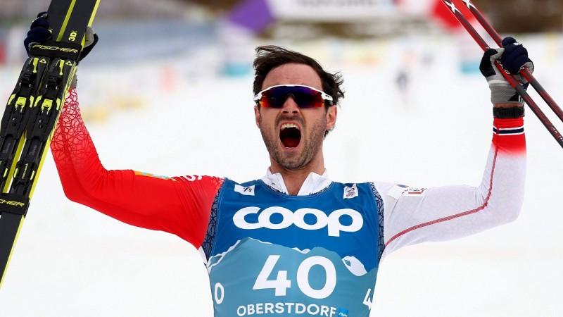 Madonā uzvarējušais Holunds izcīna zeltu 15km, mūsējie tūdaļ aiz sešdesmitnieka