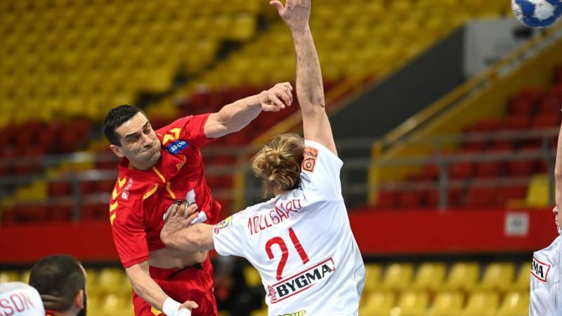 Ziemeļmaķedonijas handbolisti pārsteidzoši pieveic pasaules čempioni Dāniju