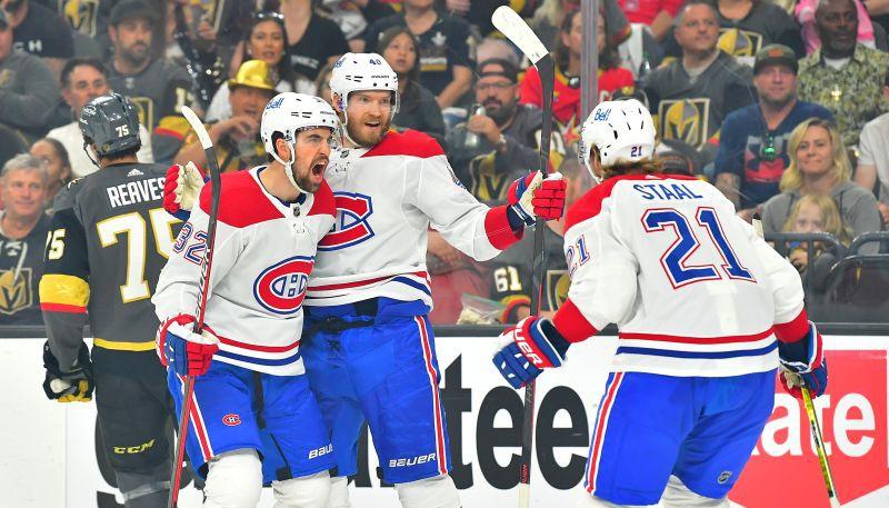 """Praiss lielisks vārtos, """"Canadiens"""" pārspēj """"Golden Knights"""" un panāk 1-1 sērijā"""