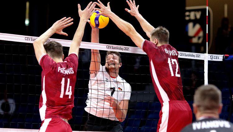 Latvija četru setu spēlē piekāpjas Vācijas izlasei