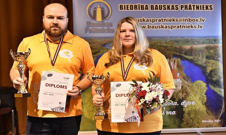 Jaunajiem Latvijas čempioniem 64 lauciņu dambretē pirmie tituli